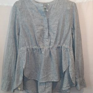 j.Crew Linen/Cotton Long Sleeves Tunic Sz S-M